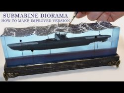 💥IMPROVED💥 SUBMARINE THROUGH MINES DIORAMA-Epoxy Resin Art – YouTube