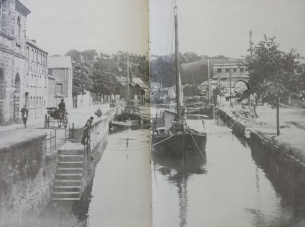 Lemon Quay, Truro, before it was covered over