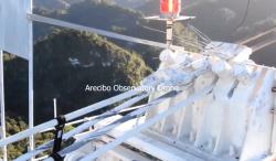 The sad moment of failure of the radio telescope at Arecibo