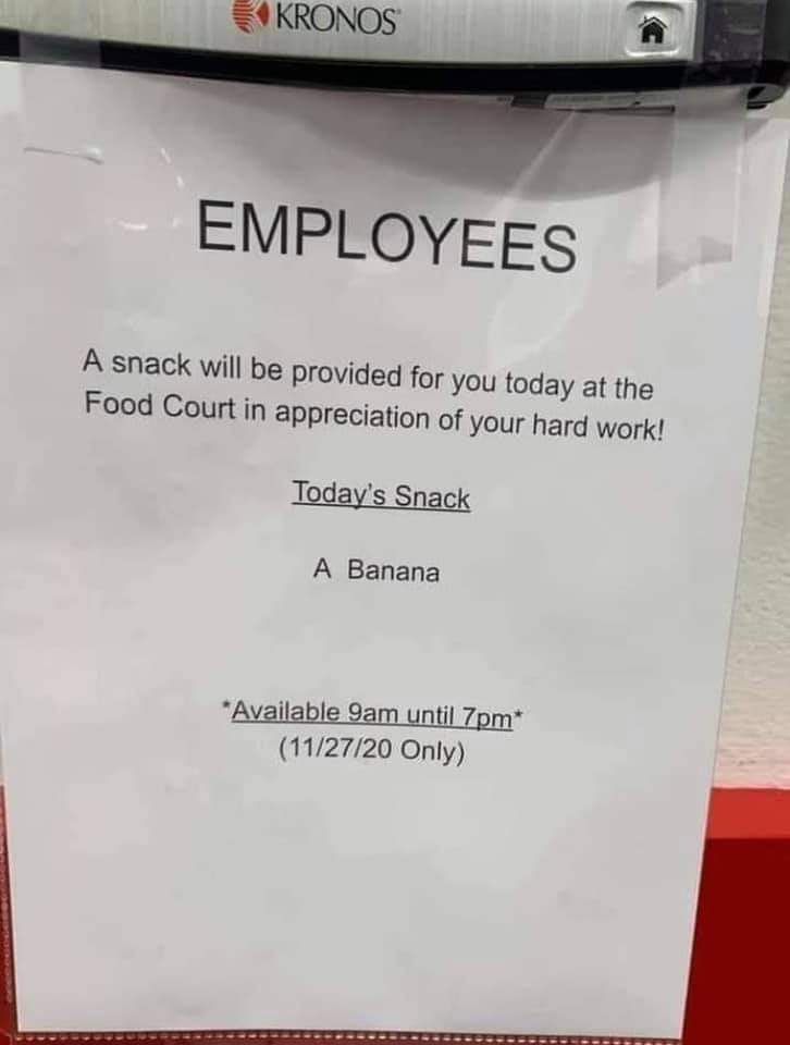 Lucky employees