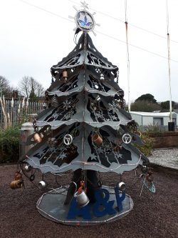 Falmouth Docks amazing Xmas tree
