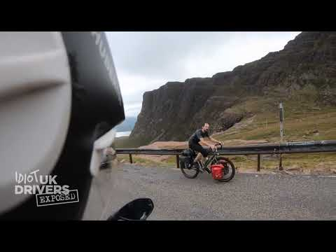 Friendly Cyclist up Bealach na Ba – Scottish Highlands – Caught on camera – YouTube