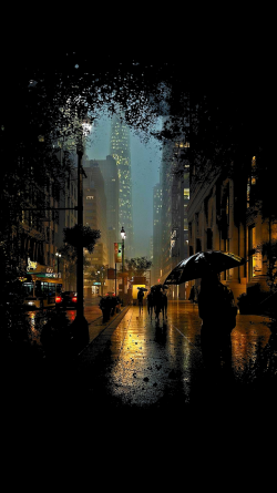 Manhattan in the rain