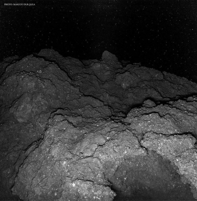 Picture taken on the surface of an asteroid