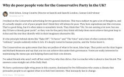 Why do poor people vote for the conservative party in the UK?
