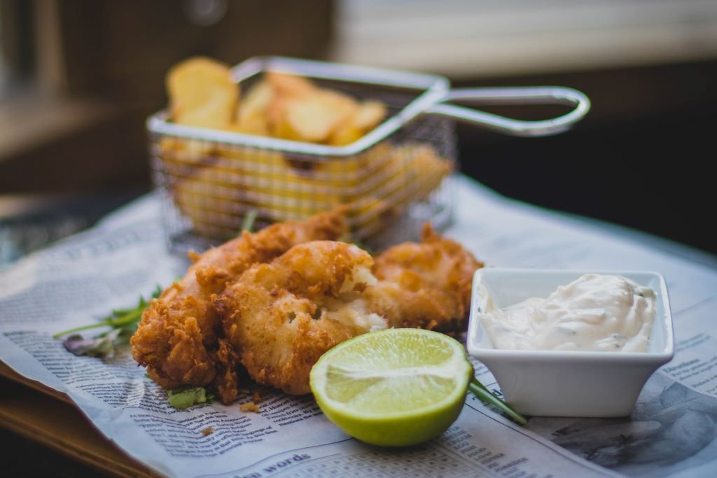 Overpriced fish and chips