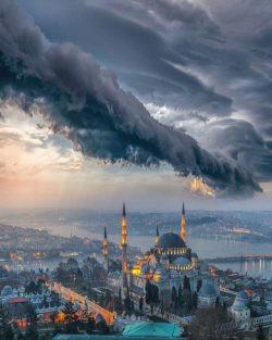 Rain over Istanbul
