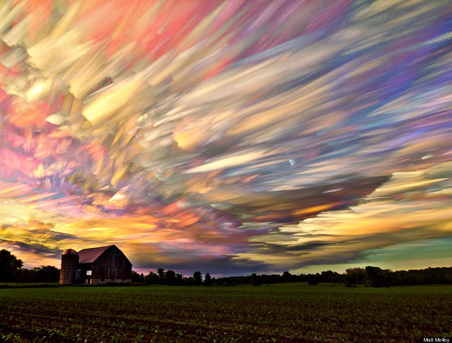 A hundred sunsets stacked in one photo