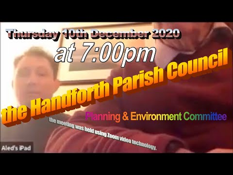 Best of the Handforth Parish Council Planning & Environment Committee Thursday 10th December 2020 – YouTube