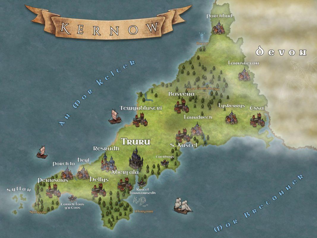 Fantasy Cornwall Map