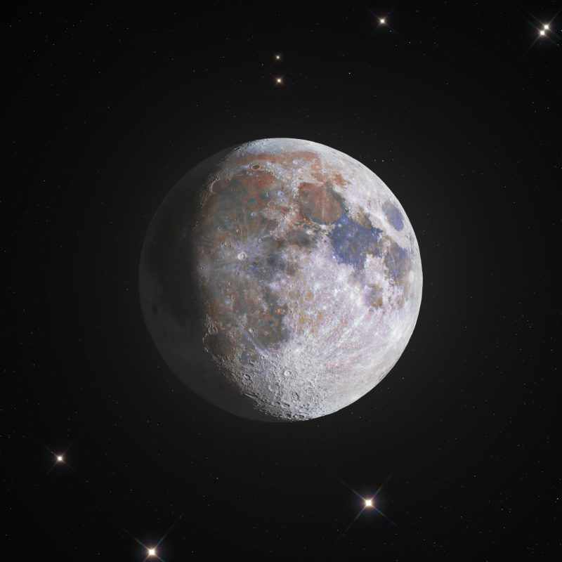 a 778 megapixel color image of the moon. Zoom in and check this one out