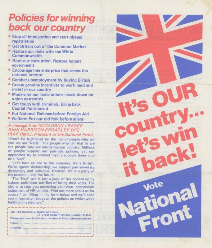 Tories vs National Front: Spot the difference