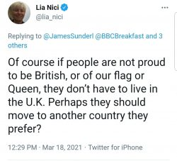 If you are not proud of the Union Jack you should move to another country.  Just a Tory MP here.
