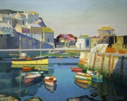 'Mevagissey, Cornwall', by Stanley Royle, oil on canvas, 1960.