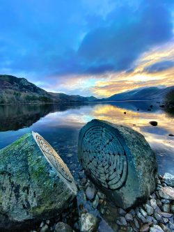 Centenary Stones in Lake District, UK – Carved from a volcanic stone from the next valley