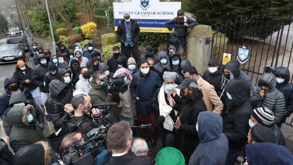 Batley Grammar School: Prophet Muhammad cartoon row 'hijacked'