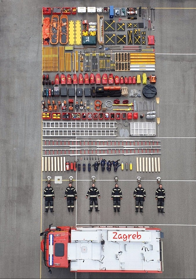 Everything that fits in a fire engine