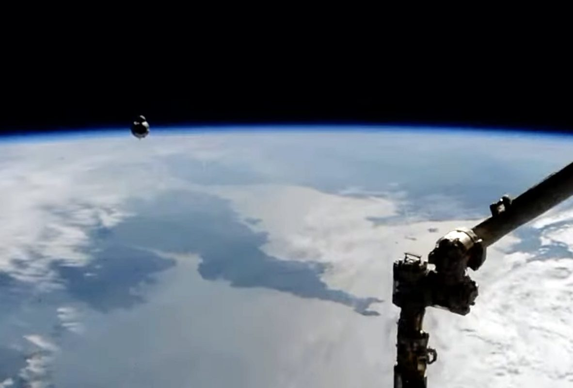 The ISS over Cornwall