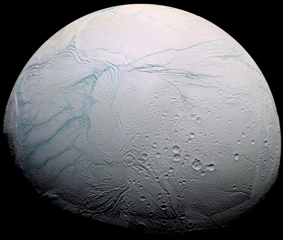 Saturn's icy moon, Enceladus.