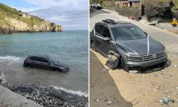 Cornwall officials urge tourists to 'engage brains' after car swept into sea