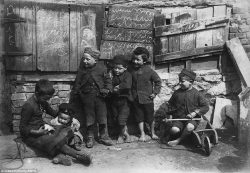 This photograph of impoverished children in Penzance, taken around 1890, forms part of an incred ...