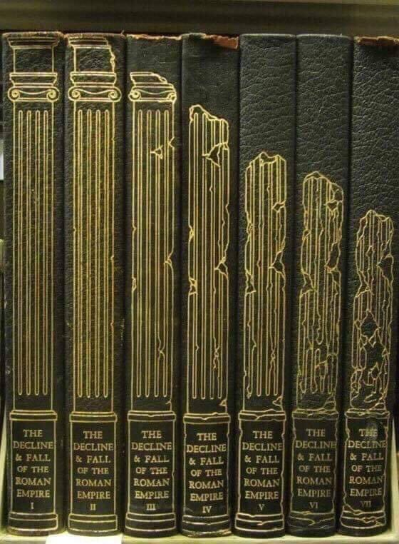 The spine on these books