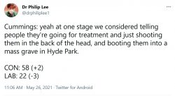 Cummings: yeah at one stage we considered telling people they're going for treatment and j ...