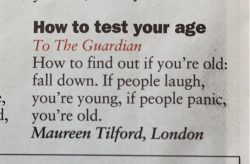 How to test your age