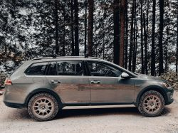 Sparco Wheels, Ko2 tires and a couple of inches lift and the golf alltrack has become the perfec ...
