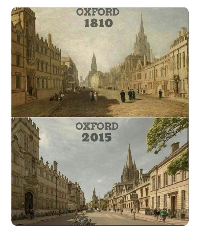 Oxford before and after