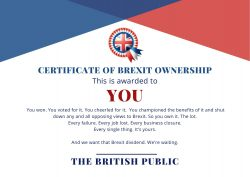 Certificate of Brexit ownership