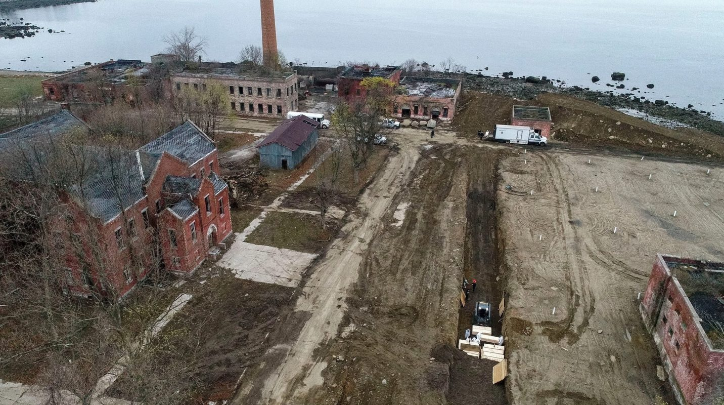 Hart Island, where NYC's dead homeless people get buried. It has almost a million bodies b ...