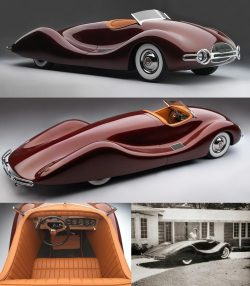 1948 Timbs Buick Streamliner — Designed by mechanical engineer, Norman E. Timbs, it was mostly a ...