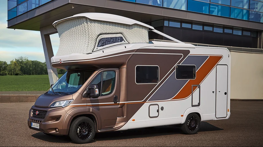 Futuristic concept camper inspires two-story RV with inflatable pop-up