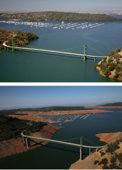 California, what losing 63 trillion gallons of water looks like…