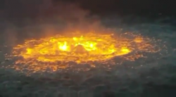 The fucking SEA is on fire!