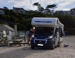 Swanpool Cafe, Falmouth outrage as camper van parks on beach