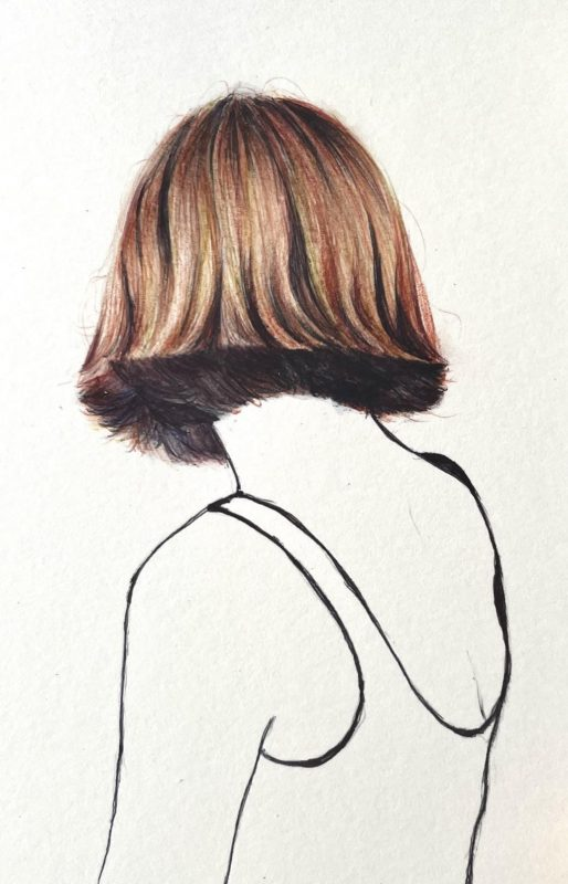 Hair by ball point pen
