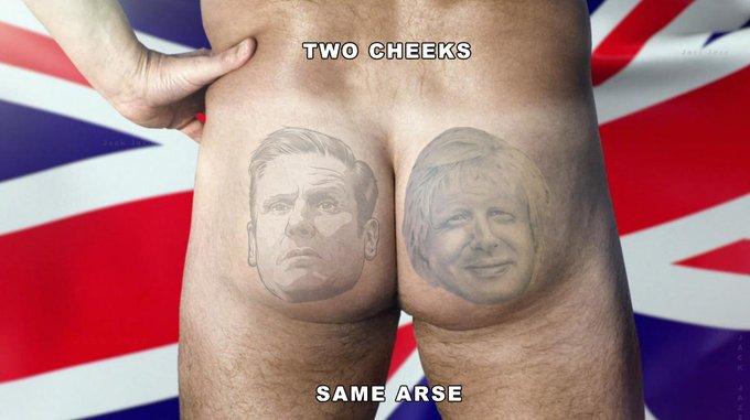 two cheeks, same arse