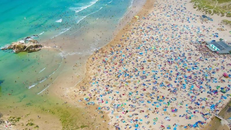 Perranporth Beach, summer 2021