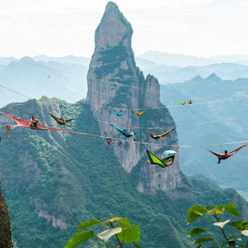 Sky camping in the mountains of China !