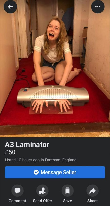 Now this is how you sell a laminator
