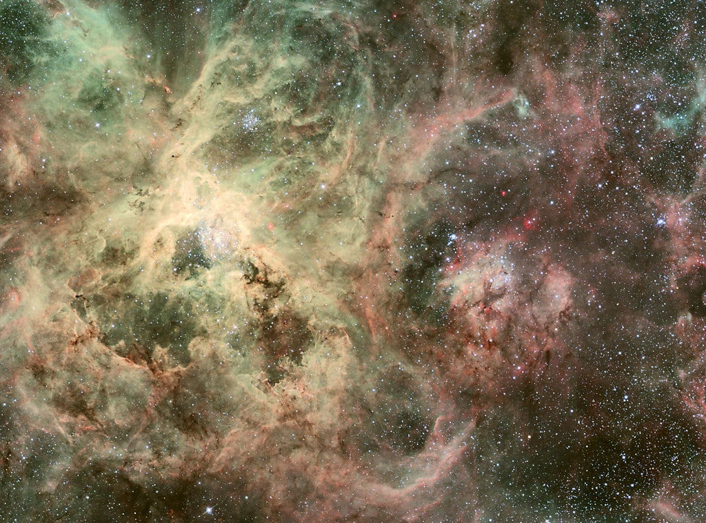 The largest and most violent star-forming region in our Local Group of galaxies the Tarantula Ne ...