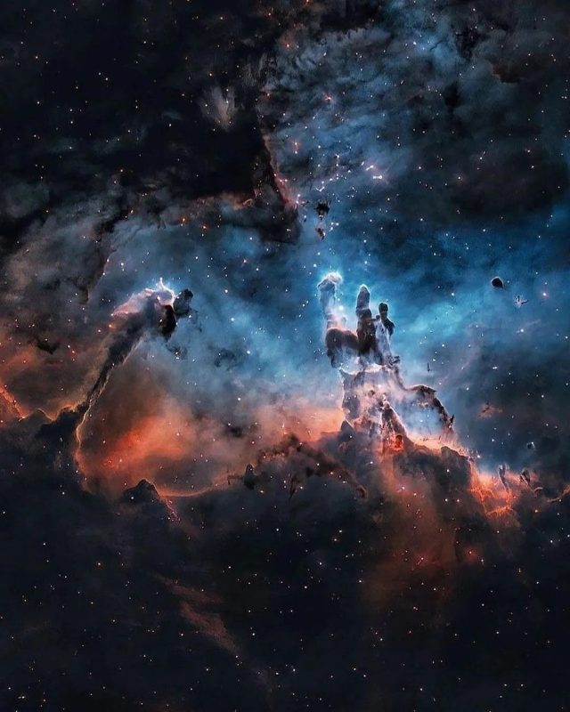 The Pillars of Creation and the giant Eagle Nebula