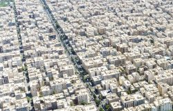 This is what most of Tehran, Iran looks like. Just a densely populated sea of concrete.
