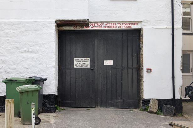 A garage in St Ives, just yards from Porthmeor Beach, but only big enough for one car, has gone  ...