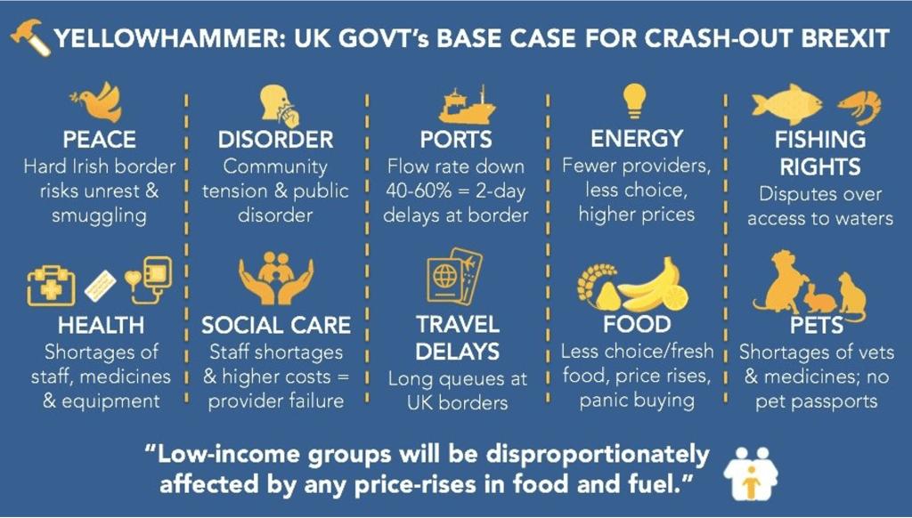 Brexit bingo: Operation Yellowhammer's full house