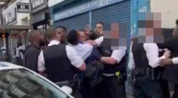 Police officer filmed 'choking' boy, 13, in school uniform