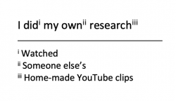 I did my own research