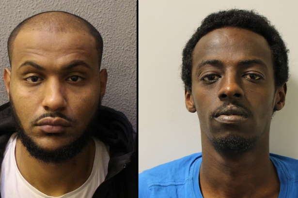 Ahmed Abdulla, 24, and of Antill Road, London, and Mohammed Aden, 27, of Newland Road, London, w ...